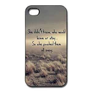 IPhone 4/4s Cases Push Them Away Design Hard Back Cover Shell Desgined By RRG2G