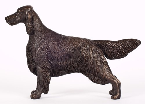 ENGLISH SETTER (STANDING): COLD-CAST BRONZE FIGURINE 7.75