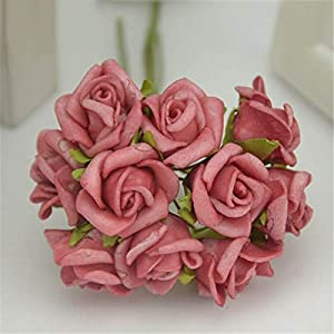 XGM GOU 100Pcs/Lot Mini 2Cm Artificial Flowers PE Foam Rose Bouquet for Wedding Decoration DIY Wreath Accessories Decoration 45