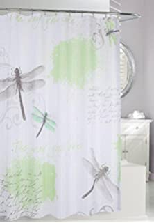 Moda At Home 204181 Dragonfly Fabric Shower Curtain