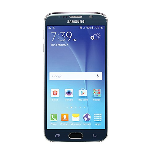 Samsung Galaxy S6 SM-G920A 32GB Sapphire Black Smartphone for AT&T (Renewed) (Cell Phone Galaxy 4s For At&t)