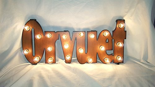 (Open marquee lighted sign vintage inspired French orvuet)