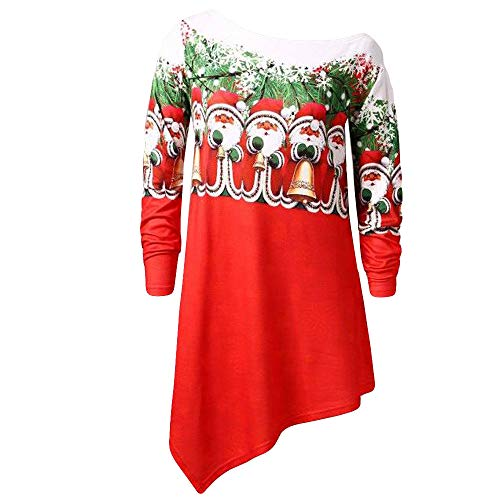 iYBUIA Cotton Womens Christmas Fashion Cold Shoulder Blouse