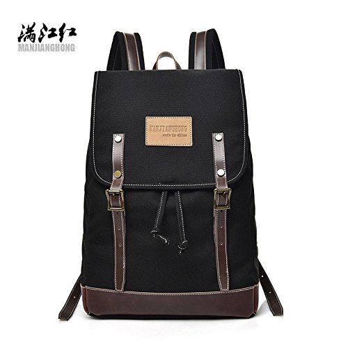 Dual Tied Canvas Men's Casual Backpack Shoulder hongrun Men's Bags Bag 8Rqf6ERZw