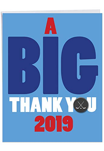 - Jumbo Humorous Graduation Thank You Greeting Card From All of Us: Hockey - 2019 Featuring the Perfect Gift for Everyone on the Ice, with Envelope (Large Size: 8.5