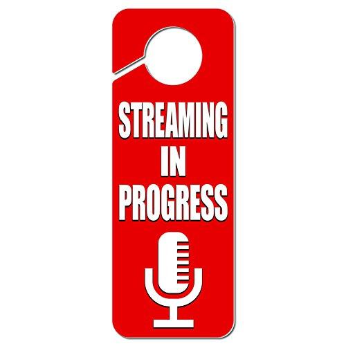 streaming-in-progress-microphone-plastic-door-knob-hanger-sign