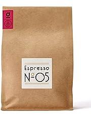 Espresso N°05 von Coffee858 – Handgerösteter Premium Kaffee – Fair & Direkt gehandelt – Feinste Arabica Bohnen – Säurearm & Bekömmlich – Traditionelle Trommelröstung – ganze Bohne