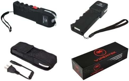 VIPERTEK VTS-989 – Rechargeable Police Stun Gun LED Wholesale Lot Taser Case