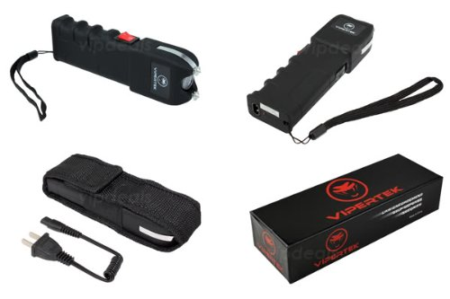 VIPERTEK-VTS-989-Rechargeable-Police-Stun-Gun-LED-Wholesale-Lot-Taser-Case