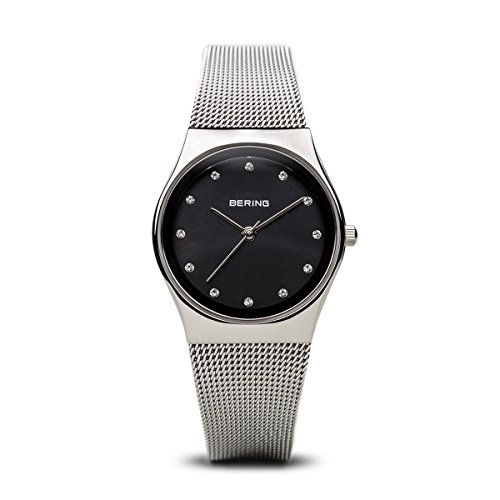 BERING Time 12927-002 Womens Classic Collection Watch with Mesh Band and Scratch Resistant Sapphire Crystal. Designed in Denmark.