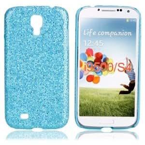 Shining Hard Case for Samsung I9500 Light Blue