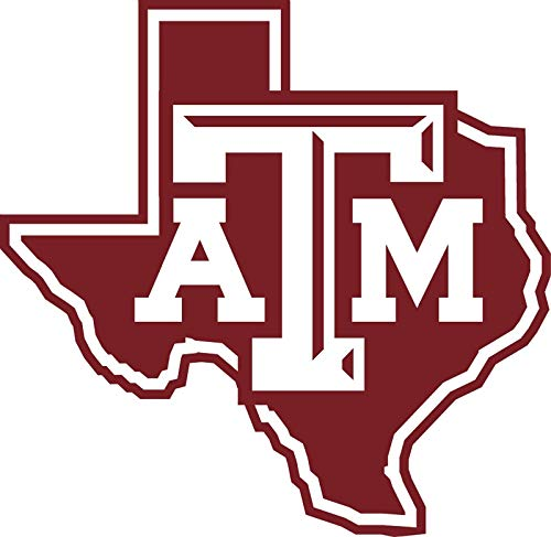 Crazy Discount Texas A&M Aggies NCAA Vinyl Sticker Decal Outside Inside Using for Laptops Water Bottles Cars Trucks Bumpers Walls, 3