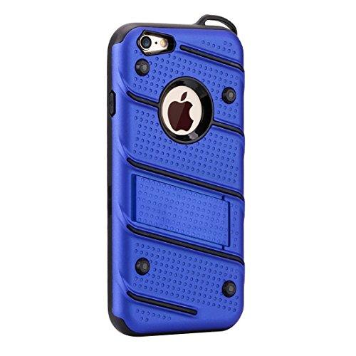 Phone Taschen & Schalen Für iPhone 6 Plus / 6s Plus, Charm Knight Abnehmbare PC + TPU Kombination Schutzhülle mit Halter ( Color : Blue )