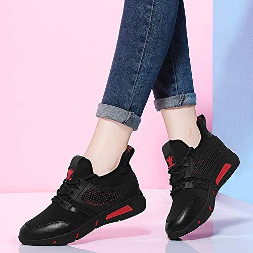 Moda scarpe autunno AJUNR scalare scarpe incendio nuove Alla super sportive corsa di griglia Donna da red Black le Scarpe qEca6aWt