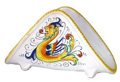 Italian Ceramics Majolica (RAFFAELLESCO: Napkins Holder [For Luncheon size napkins (6'' to 6.5'' sq.)] [#1331-RAF])