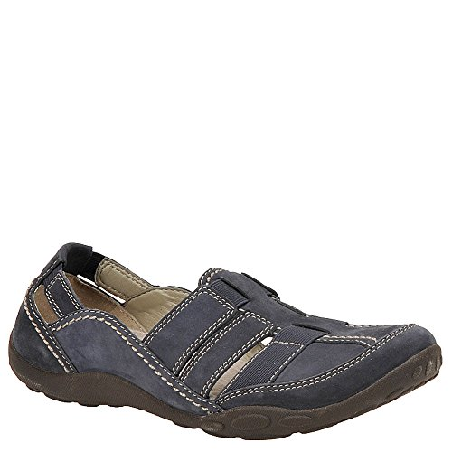 Clarks Women's Haley Stork Flat,Navy,9.5 N US (Best Walking Shoes For Bunions And Flat Feet)