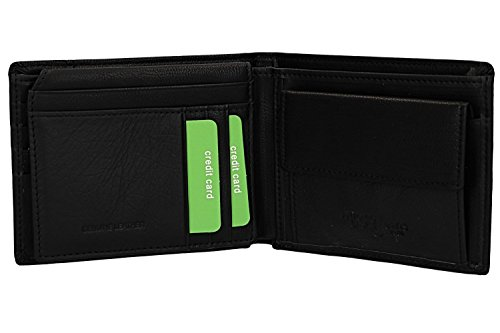 black leather ANTONIO and VA2583 Wallet in BASILE flap coin man with purse tAnnqFHwv