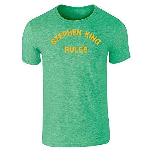 Stephen King Rules Horror Heather Irish Green 3XL Short Sleeve T-Shirt