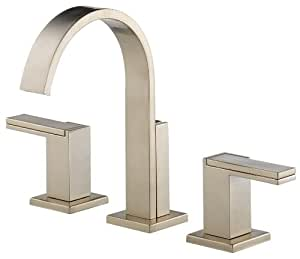 Brizo 65380LF-BNLHP Siderna Widespread Lavatory Faucet without Handles, Brilliance Brushed Nickel