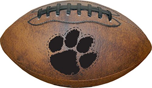 NCAA Clemson Tigers Vintage Throwback Football, 9-Inches