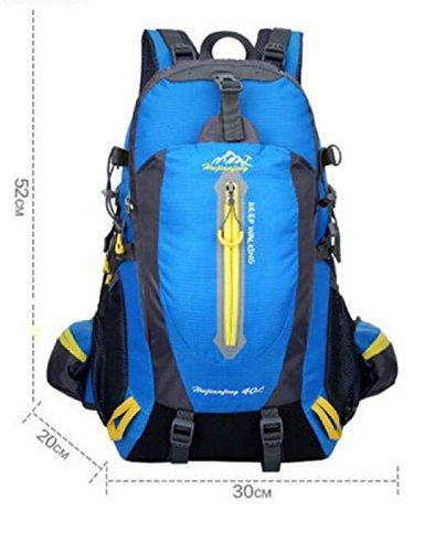 LQABW Los Hombres De Hombro Montañismo Montar Viaje Y Mujeres Caminando A Prueba De Agua Reducido Mochila 40L,Blue Green