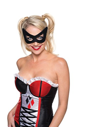 [Harley Quinn Mask DC Comics Girl Superhero Suicide Squad 32229] (Adult Witch Mask With Hat And Hair)