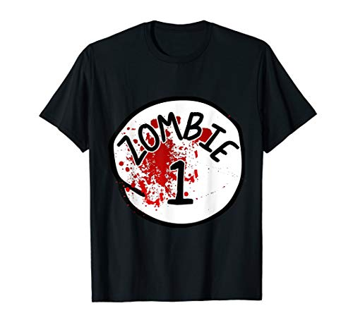 Couples Zombie 1 Halloween Costume T-Shirt -