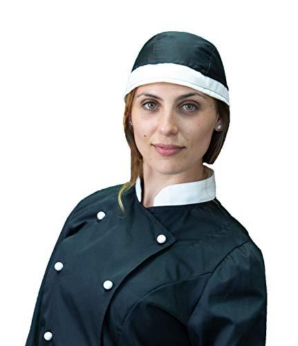 Italy Panna Chef E Unisex In Ristorazione Nera Bandana Made Cucina Pizzaiolo Copricapo Cuffia Tessile Colori Per Astorino Cuoco Vari Cameriere H1qRqnTz