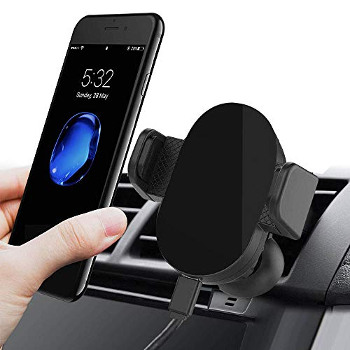 Car Holder for Cell Phone Hands-Free Air Vent Car Phone Holder with Auto Lock Release Car Phone Mount Universal Compatible for iPhone 8 iPhone X/Max XR/8, Galaxy/S8/S7/S6/Note 5, HTC, LG, Huawei