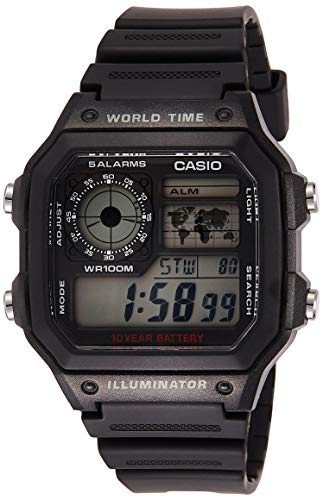 Casio Men's AE1200WH-1A World Time Multifunction Watch (Watch With Digital)