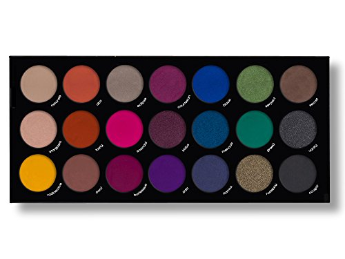 21 Highly Pigmented Professional Eyeshadow Palette Eye Shadow Makeup Kit Set Pro Palette High-end Formula (Smokey)