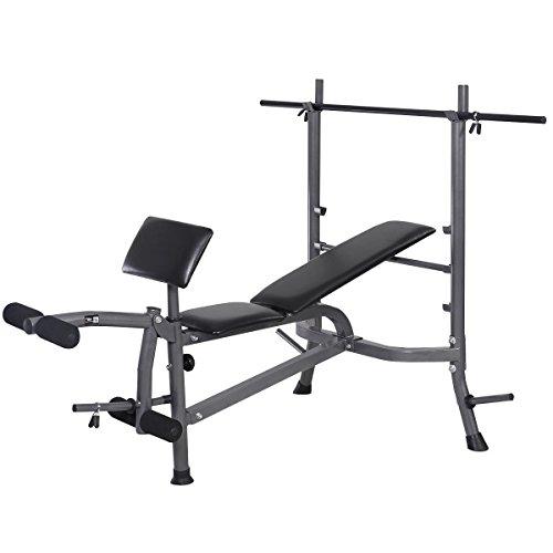 Fitness Workout Weight Lifting Bench w/ Bar by Apontus