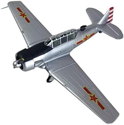 1/72スケール戦闘機プラモデル、軍事WWIIPLAAF T-6テキサンモデル、アダルトグッズやギフト、6.9Inch X5.3