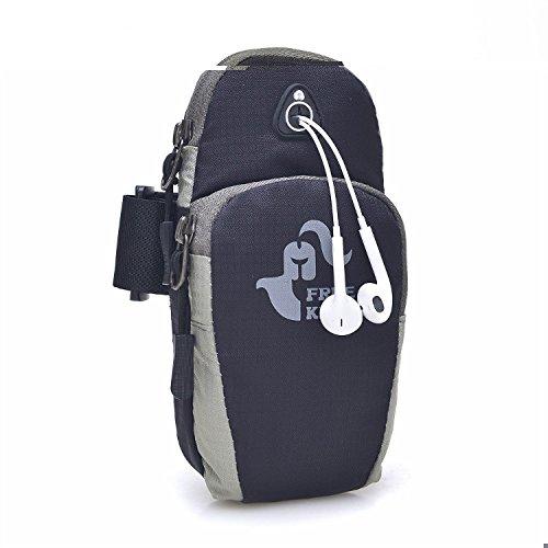 Sporthülle Taschen Wasserdicht Multifunktional Running Armbag für Samsung Galaxy iPhone 6& 6S Plus Schwarz