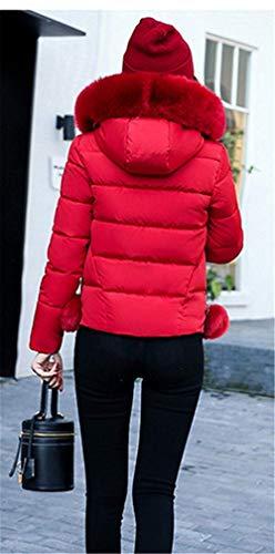 femmes manteau manches épaissir avec capuche fourrure hiver matelassée matelassé Veste solides chaude à veste fausse pourriture Slim longues couleurs mode Fit survêtement marque mode élégante pour en E8fEwqX