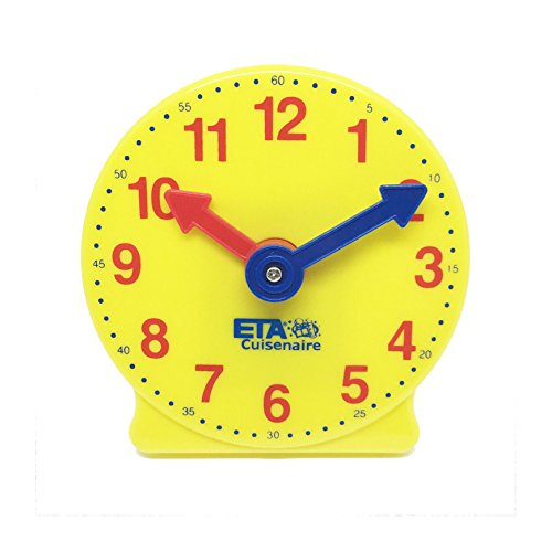 ETA hand2mind Plastic Geared Practice Clock, 4