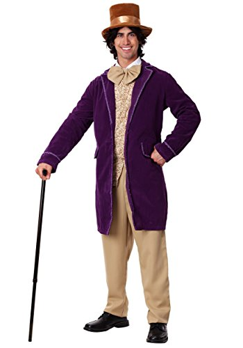 Fun Costumes Deluxe Candy Man Velour Jacket Costume Set Standard ()