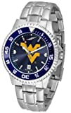 NCAA West Virginia University Mens Stainless Watch COMPM-AC-WVM