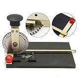 Wanlecy Manual Embossed Signage Machine Metal Plate Printer Stamping Label for Dog Tag Metal Printing