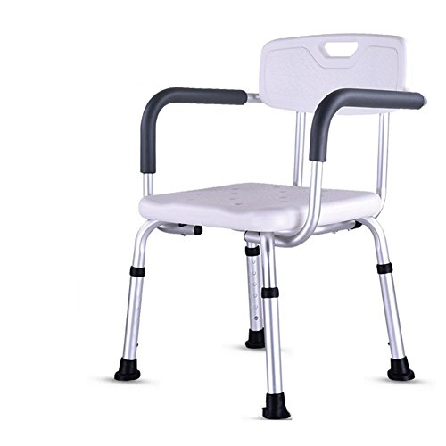 LUCKYYAN Premium Shower Chair With Arms - Strong, Secure Bathtub Chair & Shower Bench With Non-Slip Feet & Padded Arms