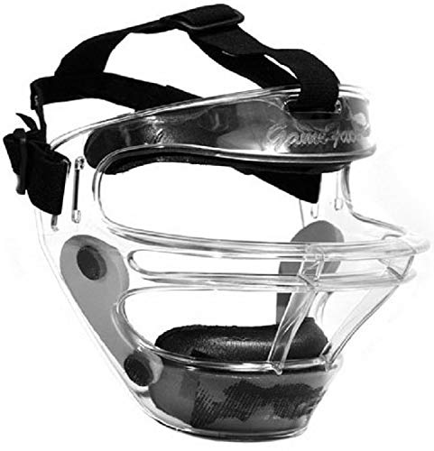 Markwort Game FACE Medium Clear Softball Safety MASK w/Pony Tail Harness Black