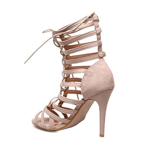 La Modeuse - Sandalias de vestir para mujer marrón