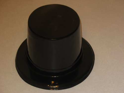 Black Plastic Top Hat 12ct [Contains 1 Manufacturer Retail Unit(s) Per Amazon Combined Package Sales Unit] - SKU# -