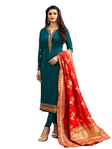 (Delisa Indian/Pakistani Fashion Salwar Kameez for Women 01 (Dark Turquoise, XX LARGE-46))