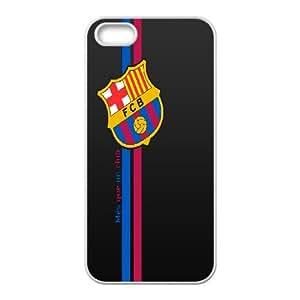 Custom Case Football FCB Barcelona For iPhone 5, 5S Q3V073176