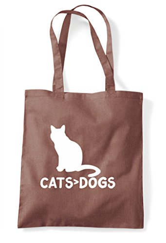Shopper Cats Funny Cute Animal Greater Chestnut Themed Are Dogs Bag Than Tote wwRH64