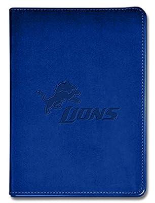 """National Design NFL Detroit Lions Executive Journal - 5 1/2"""" x 8"""" - Blue - 100 Pages (14313-NFL-QUI-B)"""