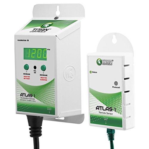 (Titan Controls Carbon Dioxide (CO2) Monitor & Controller w/ Remote Sensor, 120V - Atlas 1)