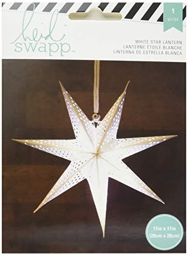 American Crafts Heidi Swapp Paper Lantern Small Seven Point Star White 11