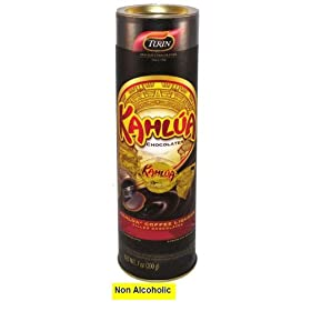 Kahlua flavored non alcoholic chocolates in a tube, 7 OZ
